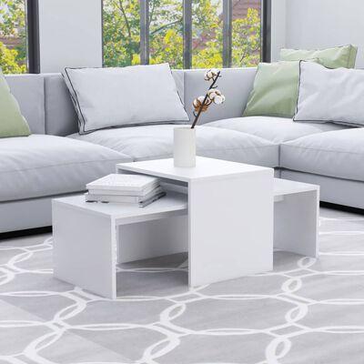 vidaXL Ensemble de tables basses Blanc 100x48x40 cm Aggloméré