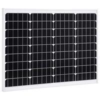 vidaXL Panneau solaire 50 W Monocristallin Aluminium Verre de sécurité