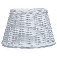 vidaXL Abat-jour Osier 50x30 cm Blanc