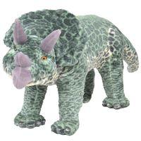 vidaXL Jouet en peluche Dinosaure Tricératops Vert XXL