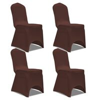 vidaXL Housse de chaise extensible 4 pcs marron