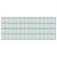 vidaXL Panneaux de clôture de jardin 2D 2,008x0,83 m 18 m total Vert
