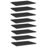 vidaXL Panneaux bibliothèque 8pcs Noir brillant 40x30x1,5cm Aggloméré