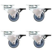 vidaXL 12 pcs Roulettes pivotantes doubles 50 mm