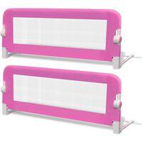 vidaXL Barrière de lit de sécurité pour tout-petits 2pcs Rose 102x42cm