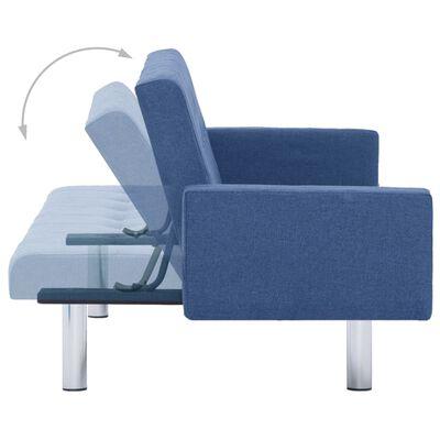 vidaXL Canapé-lit avec accoudoir Bleu Polyester