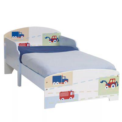 Worlds Apart Lit d'enfants Camions et tracteur Blanc WORL230006
