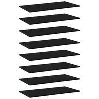 vidaXL Panneaux de bibliothèque 8 pcs Noir 80x40x1,5 cm Aggloméré