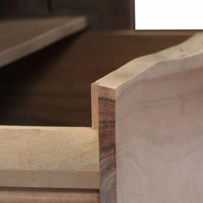 vidaXL Table basse Acacia massif Bord assorti 90 x 50 x 40 cm Gris