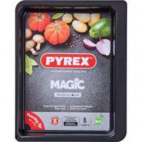 Pyrex Plaque de cuisson rect métal 35x26cm Magic