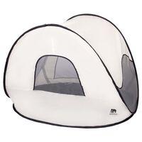 DERYAN Tente de plage escamotable avec moustiquaire 120x90x80 cm Crème