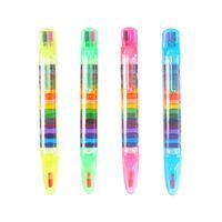20 couleurs / 1 pc mignon kawaii crayons pastel à l'huile stylo