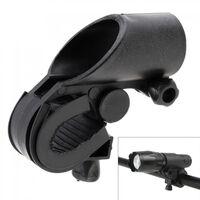 19-27mm clip de lampe de support de lampe de vélo noir durable de