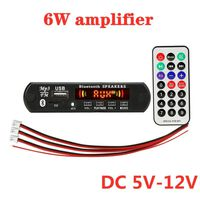 2 * 3W lecteur MP3 enregistrement voiture USB Bluetooth5.0 module de