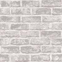 DUTCH WALLCOVERINGS Papier peint Briques Gris