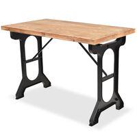 vidaXL Table de salle à manger Sapin massif Dessus de table en bois
