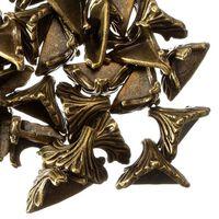 30pcs 19mm x 11mm motif bronze antique sculpté, boîte de bureau -