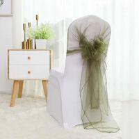 Noeud papillon en organza orange décorations de chaise de banquet de