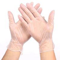 Gants de ménage jetables transparents en PVC / cuisine / latex /