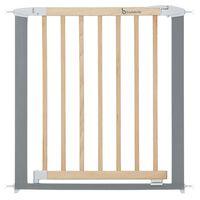 Badabulle Barrière de sécurité Safe & Lock Bois/métal Gris 73-81,5 cm