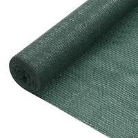 vidaXL Filet brise-vue Vert 1x25 m PEHD 195 g/m²