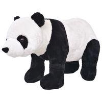 vidaXL Jouet en peluche Panda Noir et blanc XXL