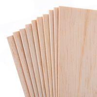 10 pièces plaque de bois balsa feuilles de bois pour bricolage