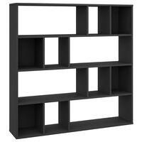 vidaXL Séparateur de pièce/Bibliothèque Noir 110x24x110 cm Aggloméré