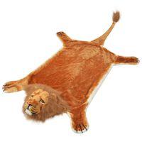 vidaXL Tapis en peluche en forme de lion 205 cm Marron