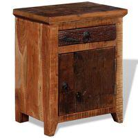 vidaXL Table de chevet Bois d'acacia solide et bois de récupération