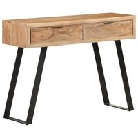 vidaXL Table console 100x35x76 cm Bois d'acacia avec bord naturel