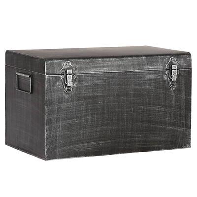 LABEL51 Boîte de rangement Vintage 30x15x20 cm S Noir antique
