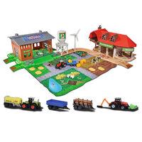 majoRETTE Ferme jouet avec 5 véhicules jouet moulés sous pression