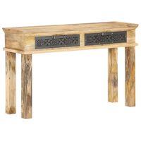 vidaXL Table console avec tiroirs 120x35x75 cm Bois de manguier solide