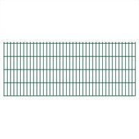 vidaXL Panneaux de clôture de jardin 2D 2,008x0,83 m 24 m total Vert