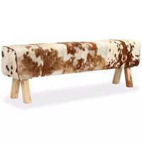 vidaXL Banc Cuir véritable de chèvre 160 x 28 x 50 cm