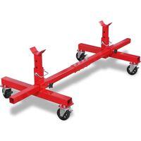 vidaXL Support d'essieu mobile Rouge