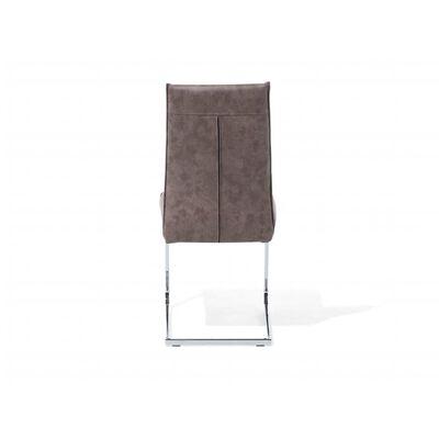 Chaise de cuisine en simili-cuir marron ROCKFORD