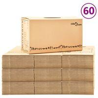 vidaXL Boîtes de déménagement Carton XXL 60 pcs 60x33x34 cm