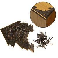 Boîte à bijoux antique pied d'angle boîtier en bois protecteur