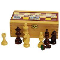 Abbey Game Pièces de jeu d'échecs 87 mm Noir/blanc 49CL