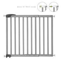 Badabulle Barrière de sécurité extensible Deco Pop Gris 63-106 cm