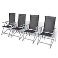 vidaXL Chaises de jardin pliables 4 pcs Aluminium