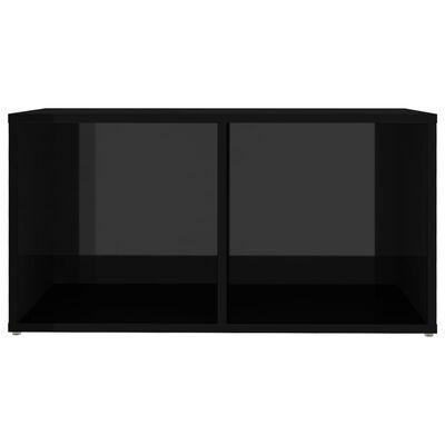 vidaXL Meubles TV 2 pcs Noir brillant 72x35x36,5 cm Aggloméré
