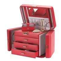 Boîte à Bijoux en Cuir Artificiel, Rouge - Tiffany
