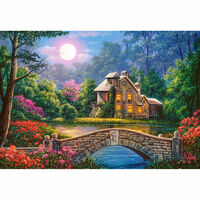 Puzzle 1000 pièces : Cottage sous la lune