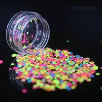 Brillant rond ultra mince paillettes colorées nail art glitter