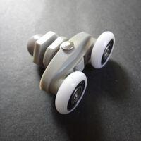 Poulies en laiton accessoires de salle de bains à double roue, salle