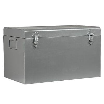 LABEL51 Boîte de rangement Vintage 50x30x30 cm L Gris antique