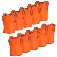 10 pcs Gilet de formation Senior Orange